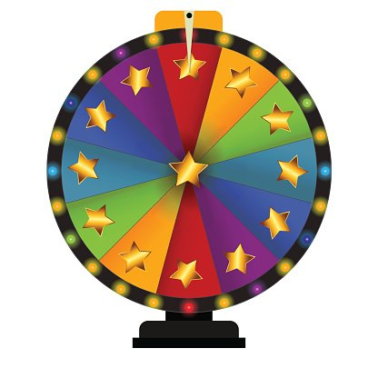 Prize Wheel, Lucky. Vector Illustration Clipart Image.