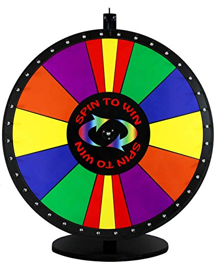 30in Spin to Win Dry Erase Prize Wheel with Special Sections.