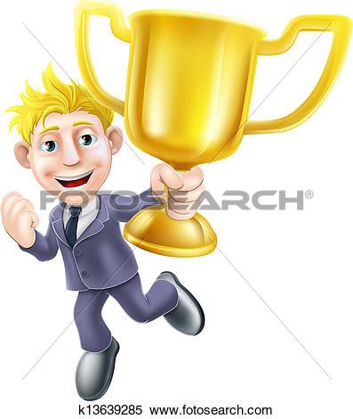 Clipart of winner champion men k12868280.