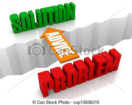 Clipart of vision bridge problem to solution csp15960110.