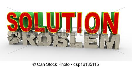 Clipart of 3d solution for problem.