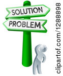 Free clipart problem solution house sign.