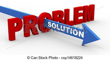 Problem solution clipart.