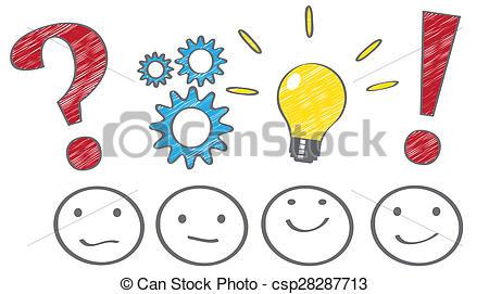 Clipart of Problem solving process concept csp28287713.