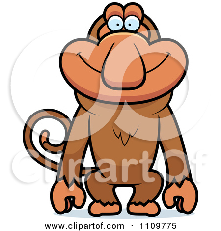 Clipart Happy Proboscis Monkey.