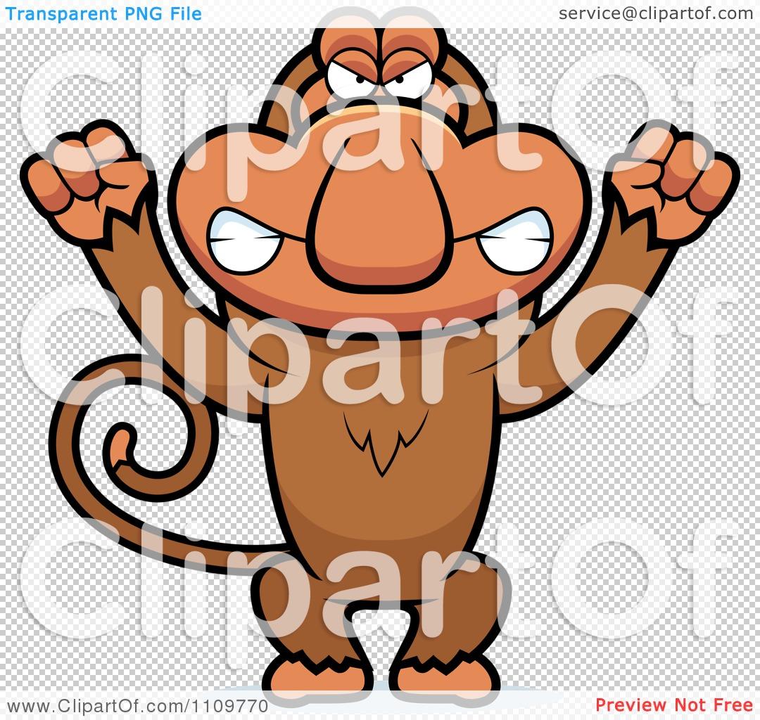 Clipart Angry Proboscis Monkey.