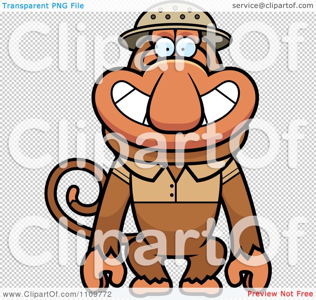 Clipart Proboscis Monkey Explorer.
