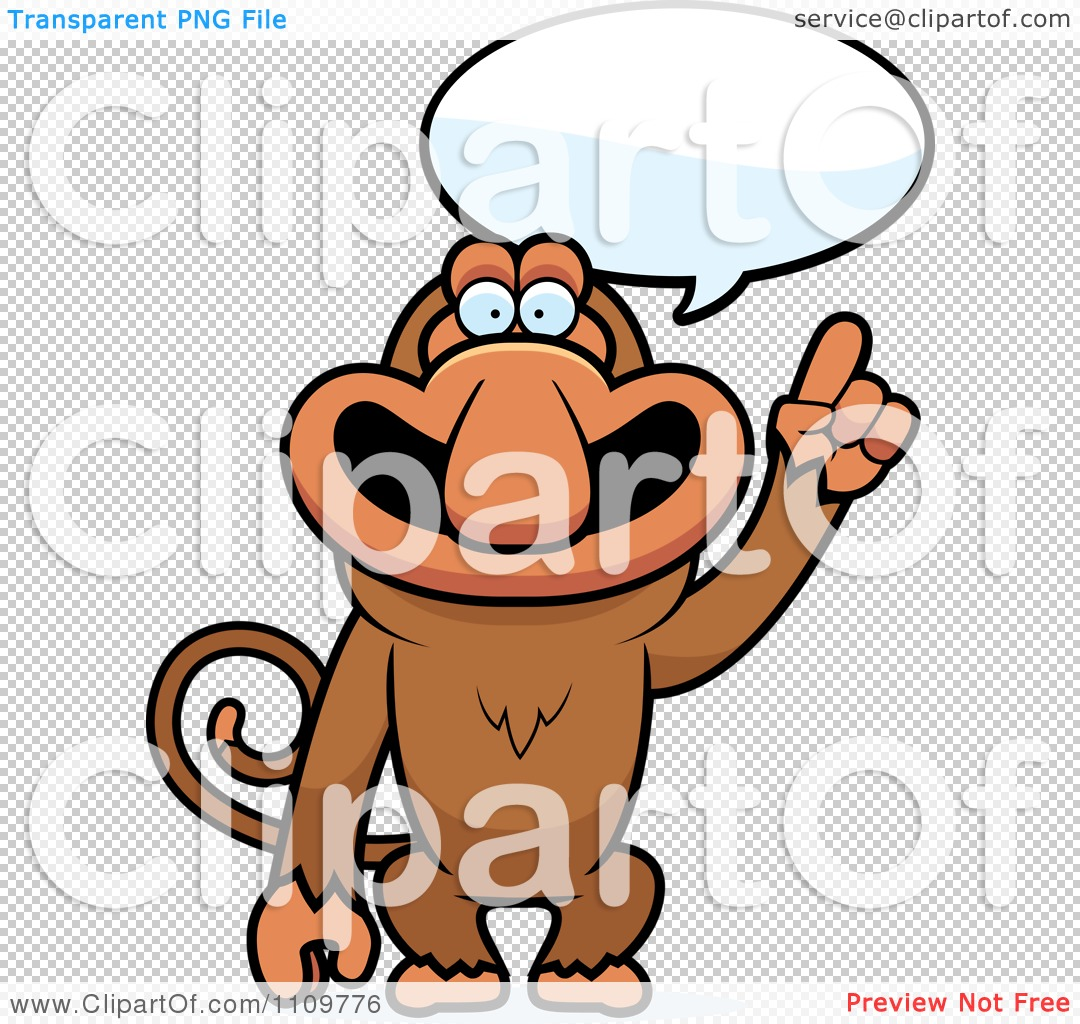 Clipart Proboscis Monkey Talking.