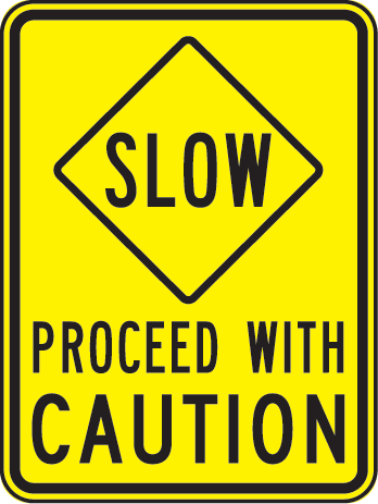 Proceed With Caution Clipart.