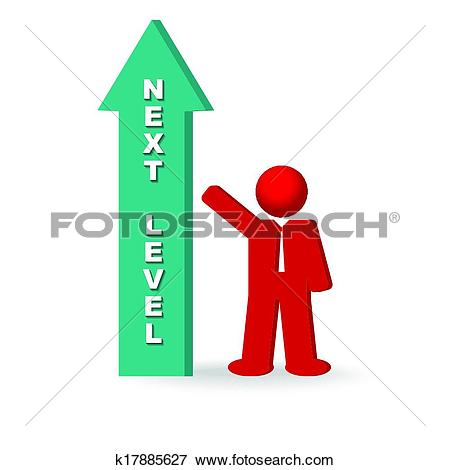 Clip Art of business man aspiring proceed to the next level of.