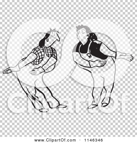 Cartoon of Black and White Female Workers Bowing and Permitting.