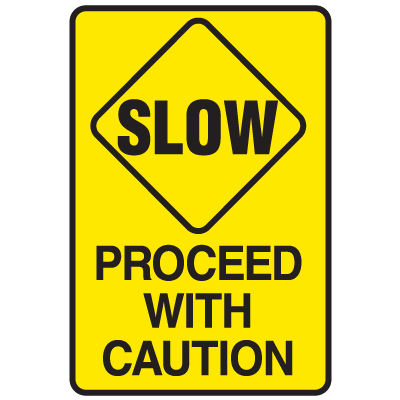 Clipart Road Signs Proceed With Caution.