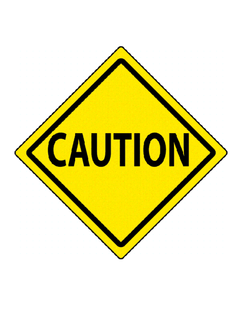 Caution sign clipart road signs proceed with caution clipartfest.