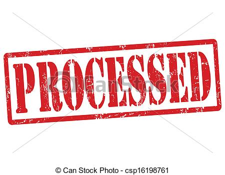 Clip Art Vector of Processed stamp.