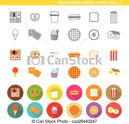EPS Vector of Processed food icons 002..
