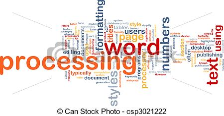 Word Processing Clipart.