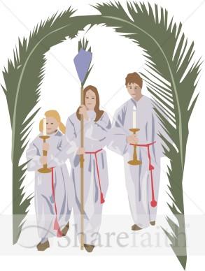 Palm Sunday Procession.