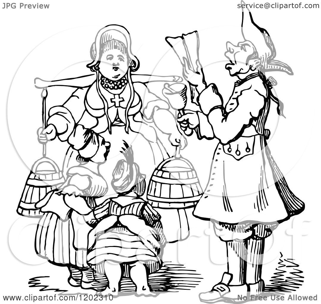 Clipart of a Vintage Black and White Proclamation.