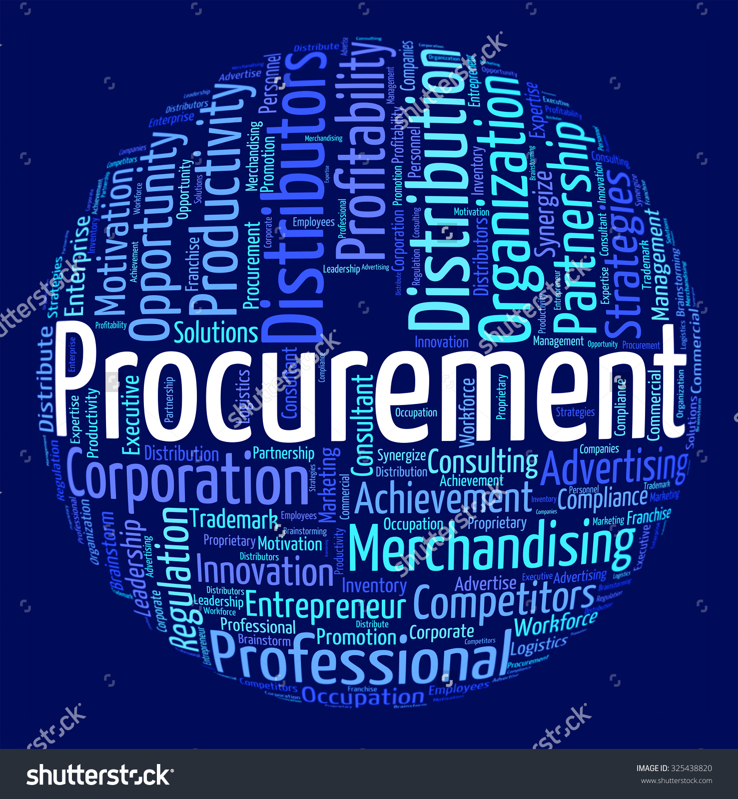 Procurement Word Showing Appropriation Words Attainment Stock.