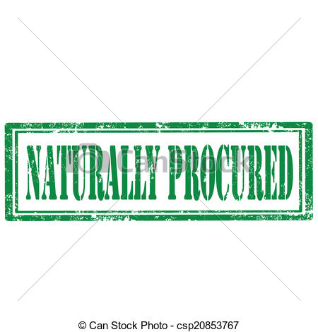 Clip Art Vector of Naturally Procured.