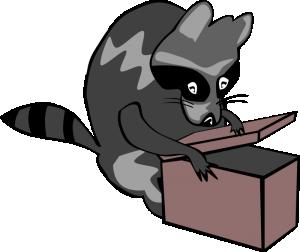 Raccoon Clip Art Download.
