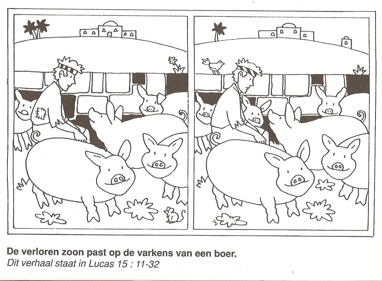 Prodigal Son Envies Pig Food Clipart.