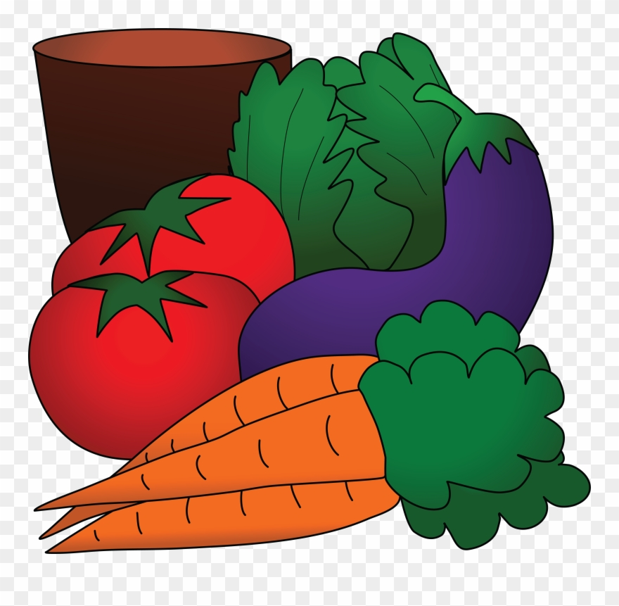Free Clipart Of A Still Life Of Produce.