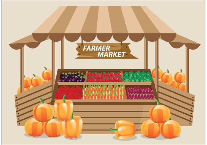 Farmers Market Vector.