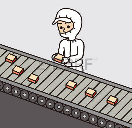 Food producing factories clipart.