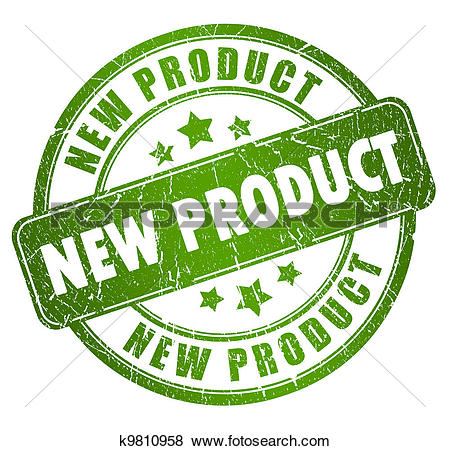 Clip Art of New product sign, k7523279.