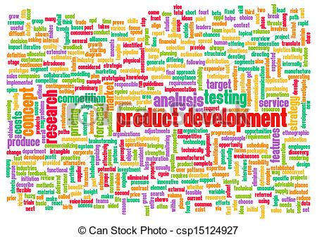 Clip Art of Product Development Step and Phase as Concept.