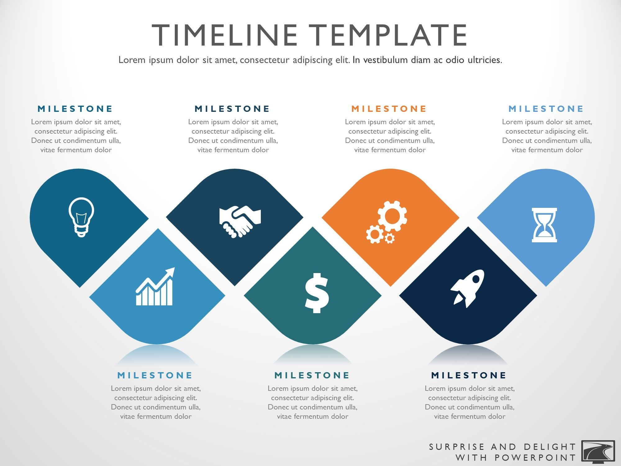 Seven Phase Visual Timeline Template.