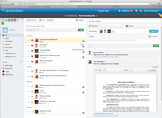 Social Task Manager Producteev Adds Document Collaboration.