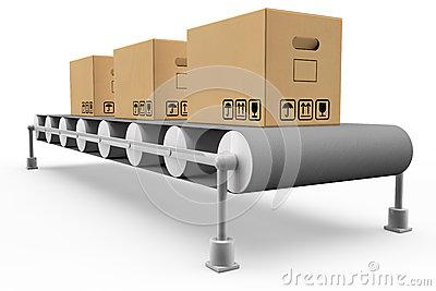 Assembly Line Stock Illustrations.