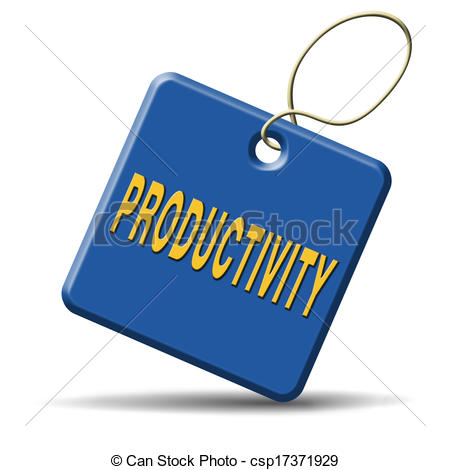 Clip Art of productivity industrial or business productive time.