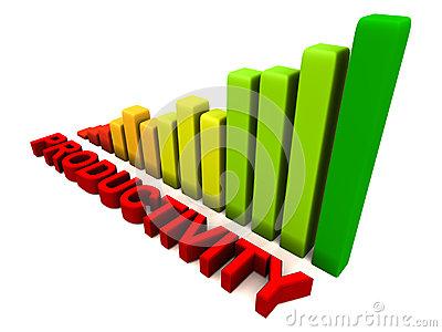 Increasing Productivity Stock Image.