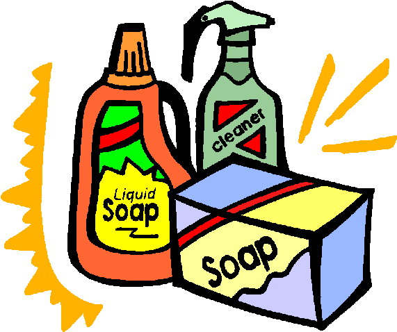 Cleaning products clipart free.