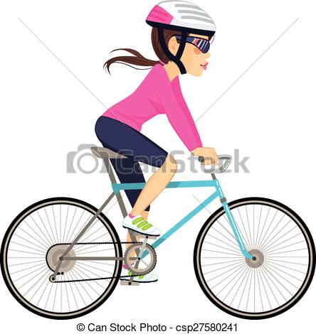 EPS Vector of Cycling Professional Woman.