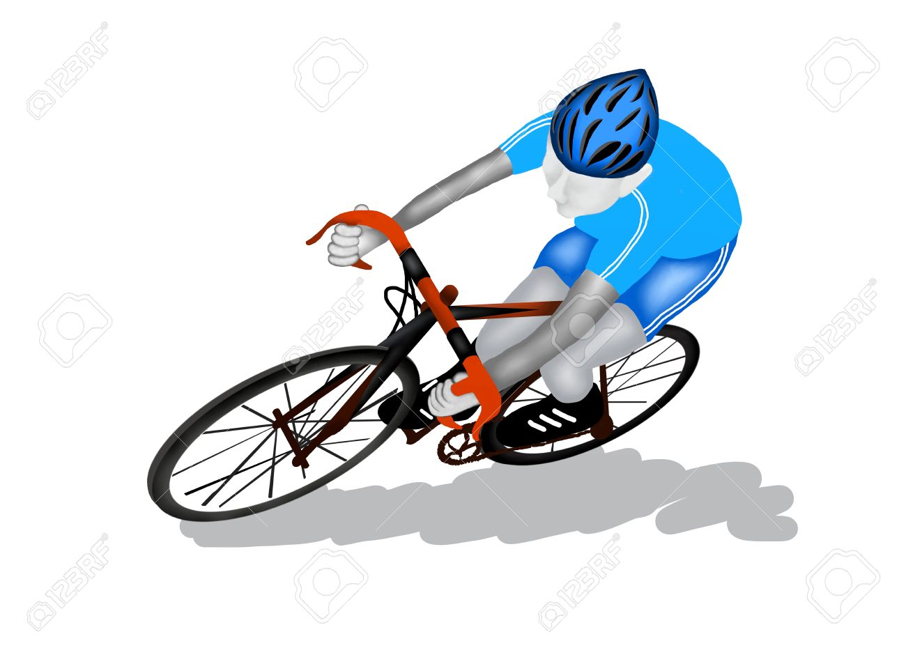 Cycling Font View Of A Professional Sport Athletes Riding His.