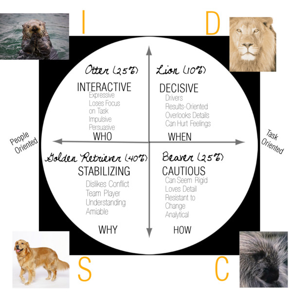 DiSC #learning styles #infographic. How the D style, i style, S.