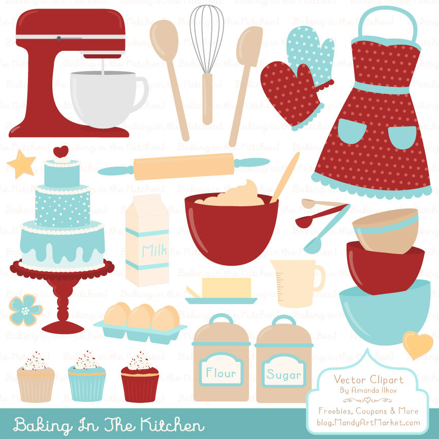 Professional Baking Clipart & Vectors in Red Robin Kitchen.