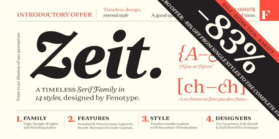 Fonts for Print, Products & Screens.