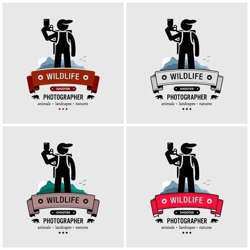 Wildlife and nature photographer logo design..