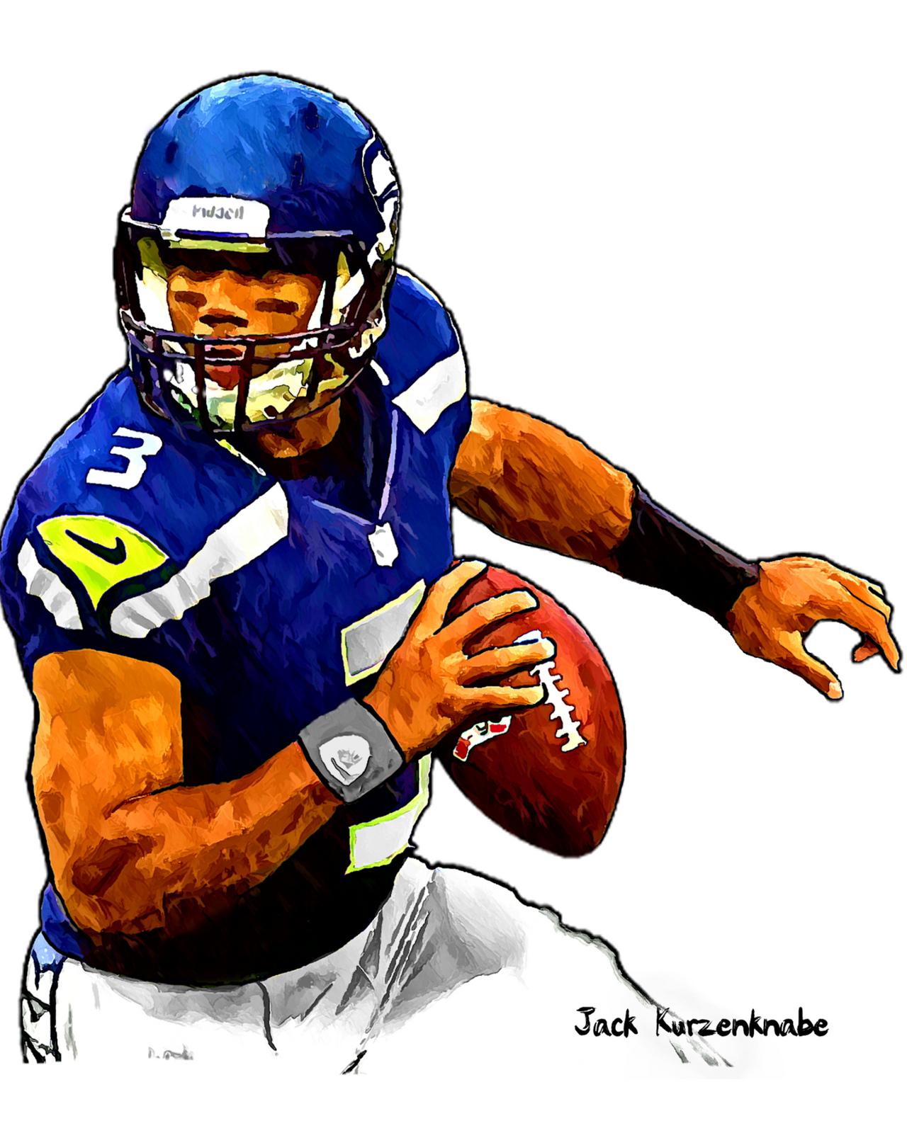 Seahawks Football Clipart.