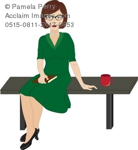 Clip Art Illustration of a School Teacher.