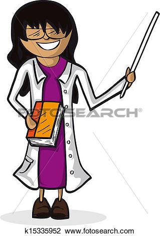 Clipart of Professional teacher woman cartoon figure. k15335952.