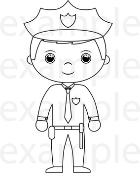 Outline Professions Digital Clip Art Graphics.