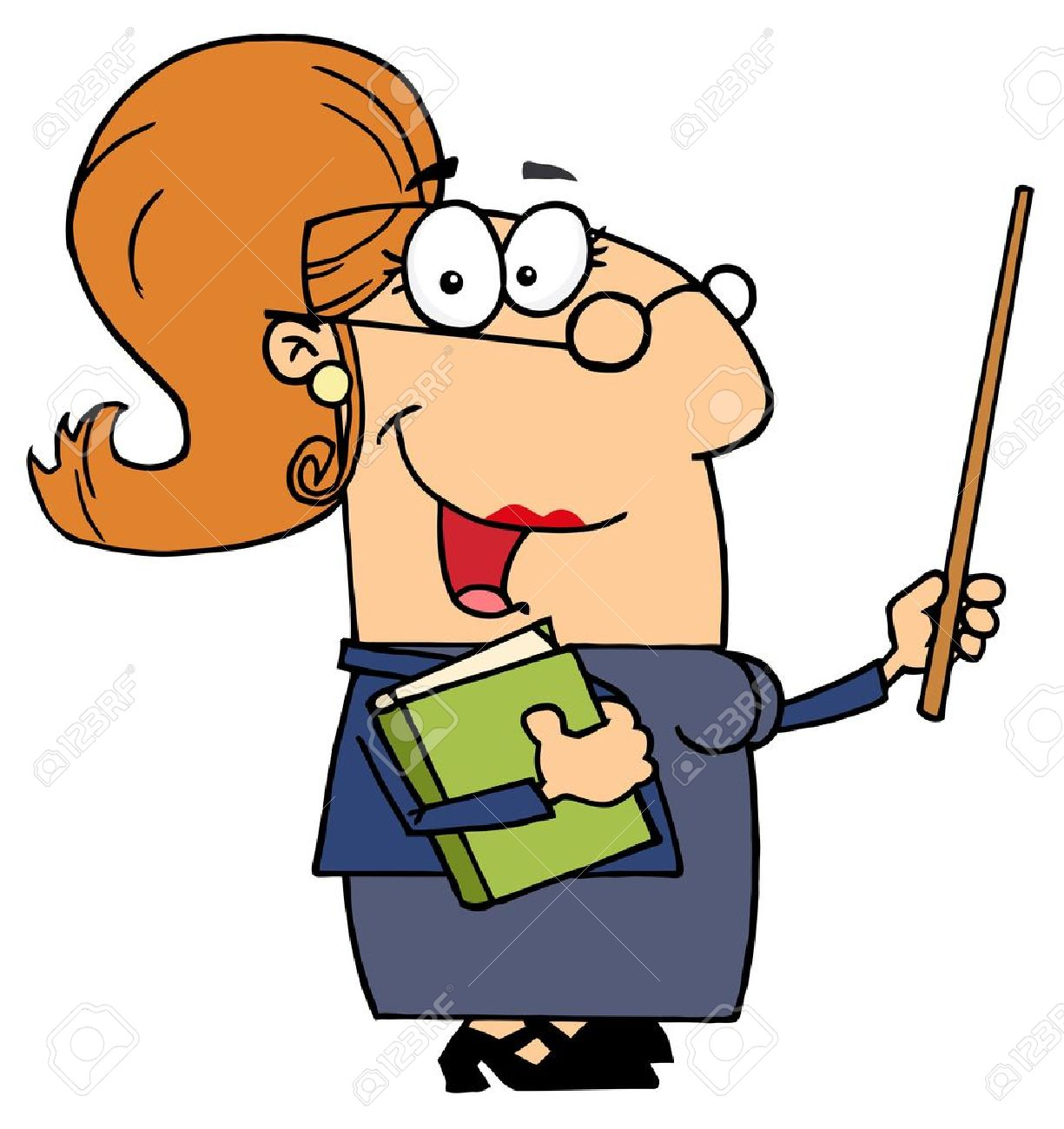 Female professor clipart.
