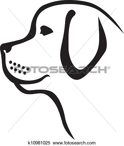 Clipart of Dog profile k10981025.
