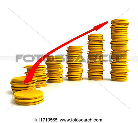 Clip Art of Finance Inflation Represents Economic Profit And.